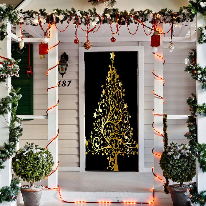 Christmas Tree Door Cover, Door Decoration