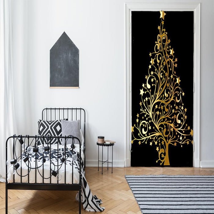 Christmas Tree Door Cover, Door Decor