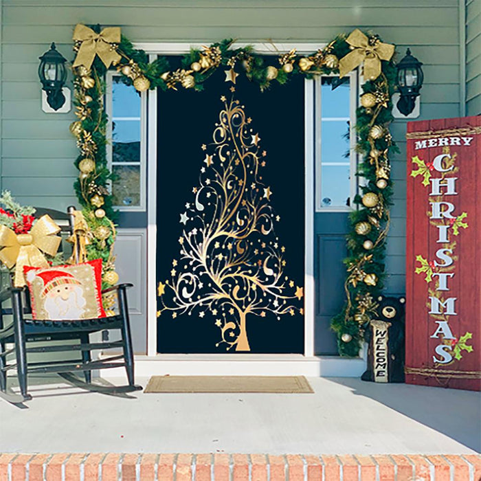 Christmas Tree Fabric Door Cover