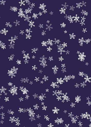Snowflakes on Purple Wallpaper, Door Cover - Door Decoration
