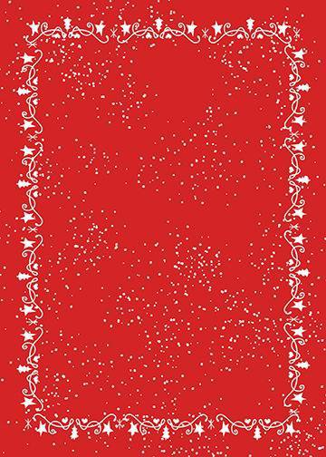 Christmas Decorations on Red Background, Door Cover - Door Decoration