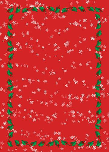 White Snowflakes on Red Background, DoorWrap - Door Decoration