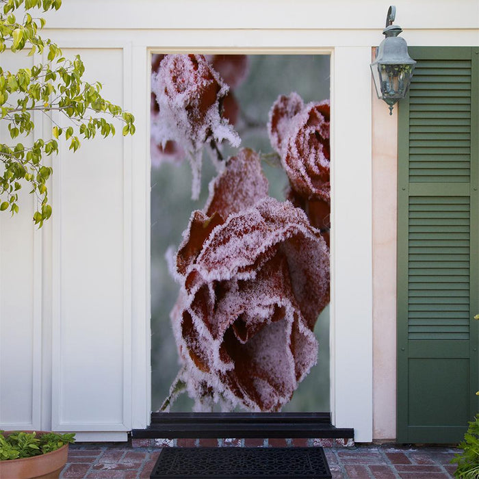 Frosted Roses Door Decor