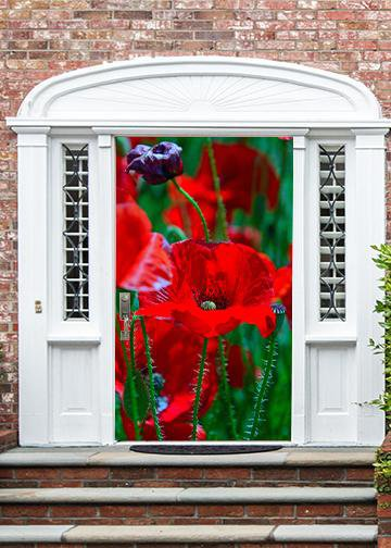 Poppy Art, Door Cover - Door Decoration