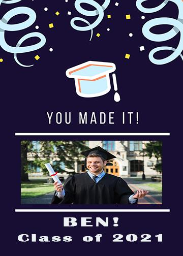 Customizable - Graduation Wrap