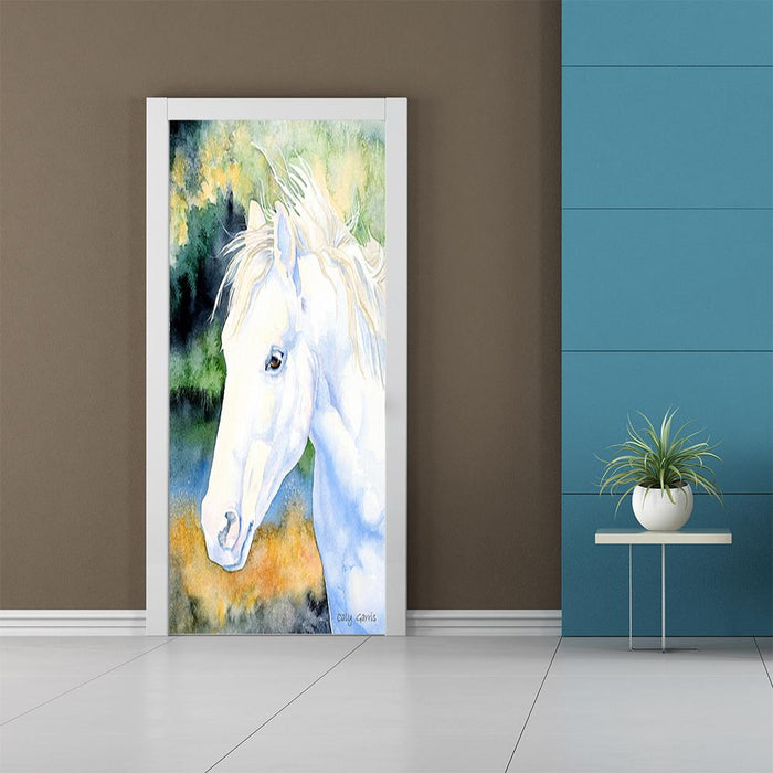 Caly Garris White Horse Artwork