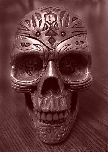 Tattooed Skull, DoorWrap - Door Decoration