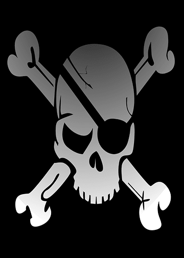 Skull and Crossbones Flag, Door Cover - Door Decoration