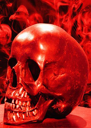 Red Skull, Door Cover - Door Decoration