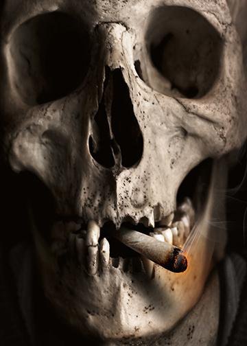 Large Smoking Skull