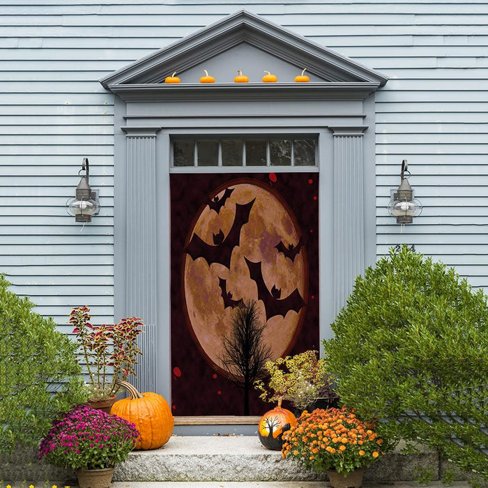 Full Moon Bats Door Decoration