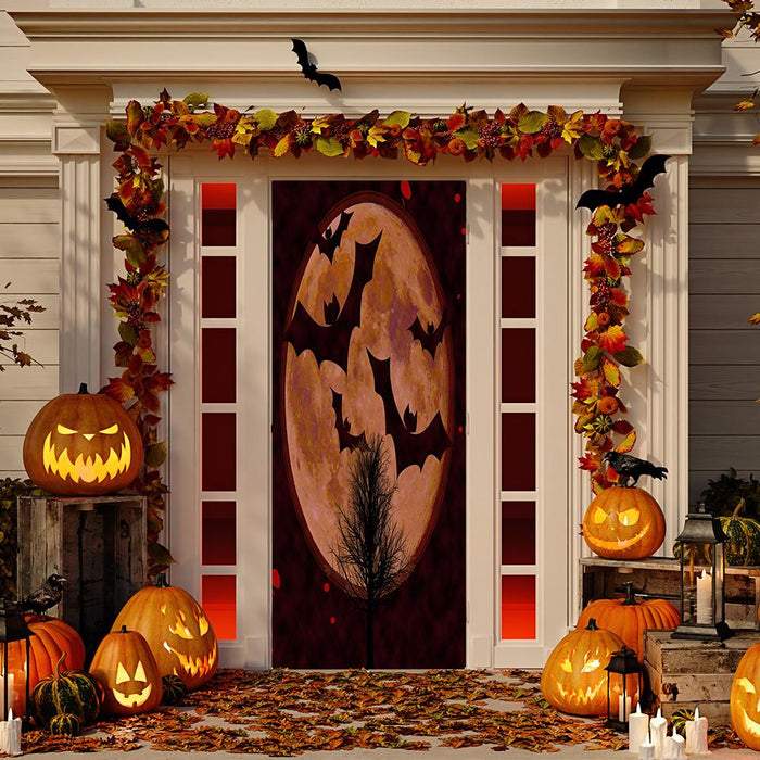 Full Moon Bats Door Cover