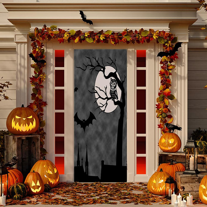 Owl Full Moon Door Decoration