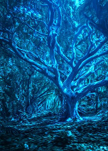 Creepy Blue Trees