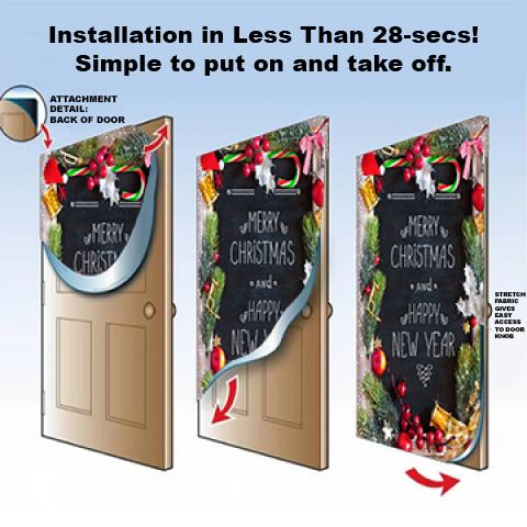 Santa Claus Door Decoration