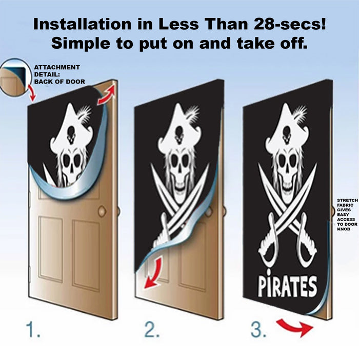 Blackbeard Pirate Door