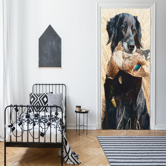 Black Flat Coat Retriever