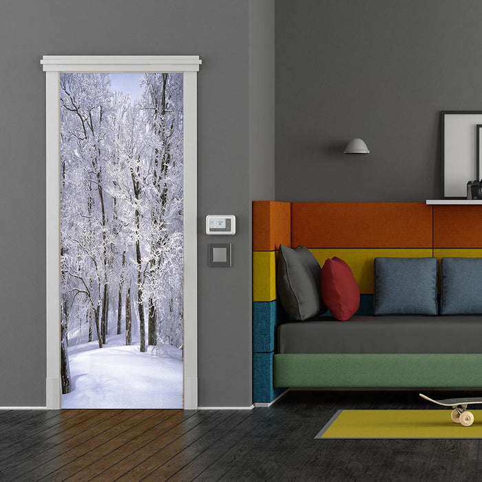 Winter Door Decorations Fabric Door Cover
