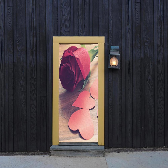 Timeless Rose Door Cover