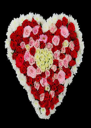 Rose Shaped Hearts, Door Cover - Door Decoration