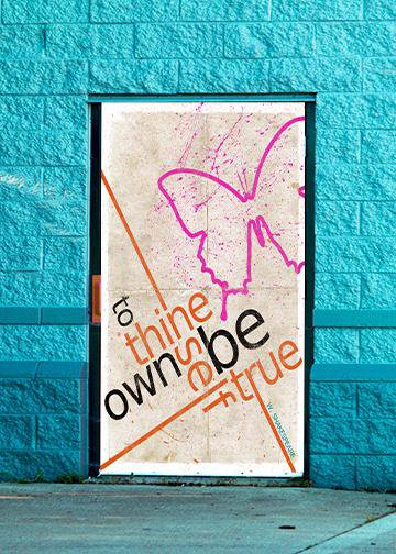 To Thine Own Self Be True, DoorWrap - Door Decoration