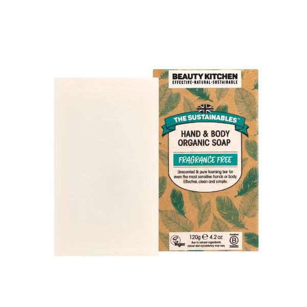 Beauty Kitchen The Sustainables Fragrance Free Hand & Body Organic Soap 120g