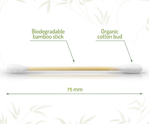 Bambaw Bamboo Cotton Buds - 200 pieces