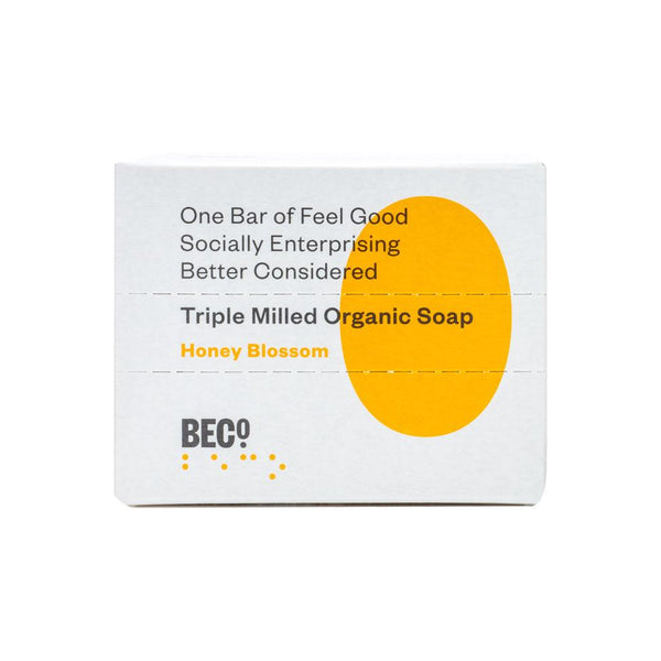 Beco Triple Milled Organic Soap Bar, 100g - Honey Blossom