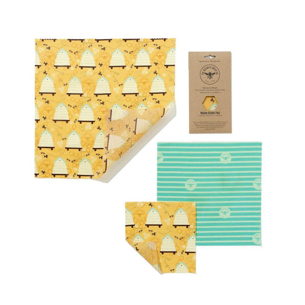 Beeswax Food Wraps - Medium Variety Pack