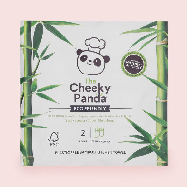 The Cheeky Panda Bamboo Kitchen Towel - Pack of 2
