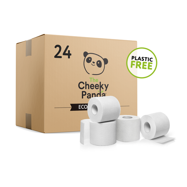 The Cheeky Panda Plastic Free Bamboo Toilet Roll 24-pack