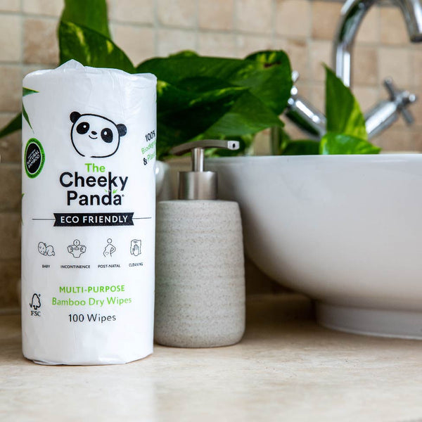 The Cheeky Panda Multi Purpose Reusable Bamboo Dry Wipes Rolls