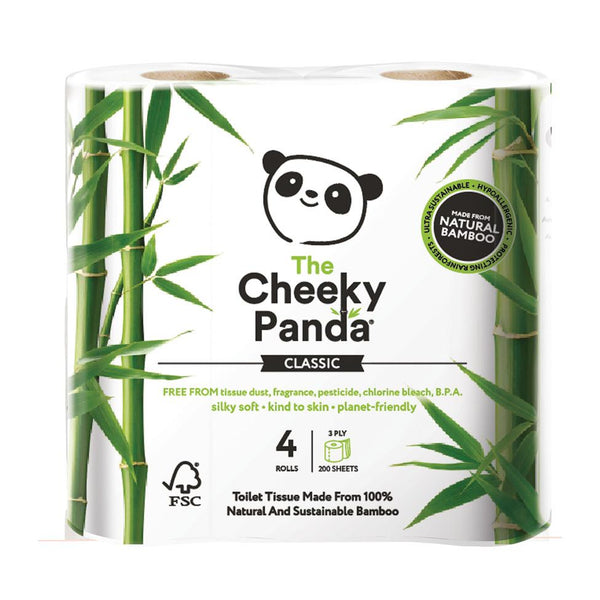 The Cheeky Panda Plastic Free Bamboo Toilet Roll 4-pack