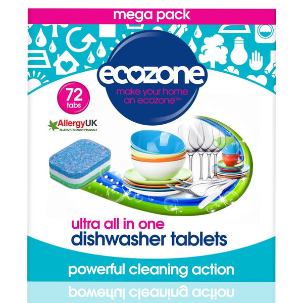 Ecozone Ultra All in One Dishwasher Tablets - 72