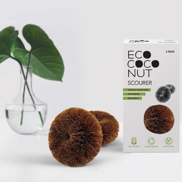 Coconut Fibre Scourers - Pack of 2