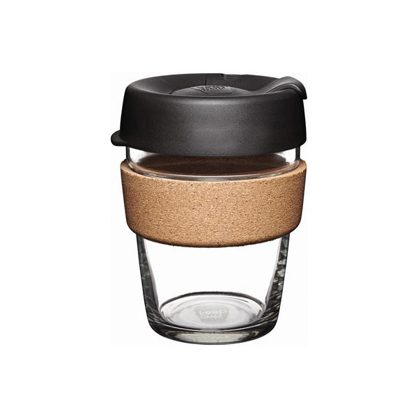 KeepCup 12oz Reusable Coffee Cup with cork sleeve - Black - Medium
