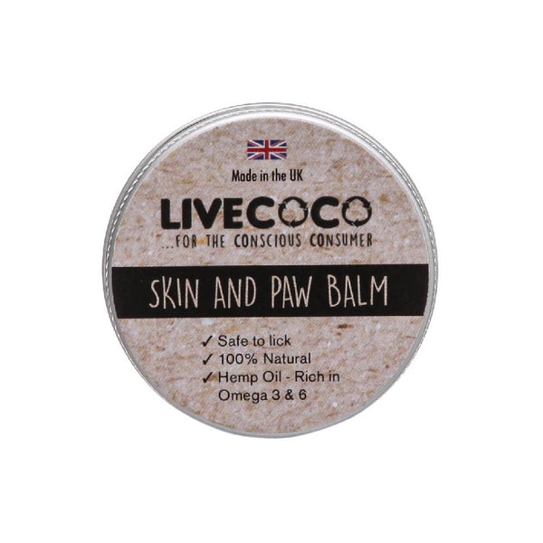 LiveCoco Natural Skin & Paw Dog Balm - 15g