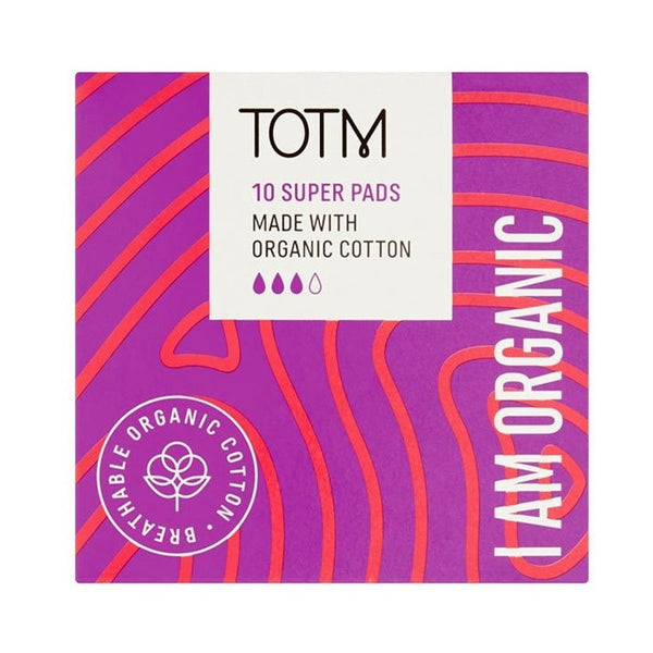 TOTM Organic Cotton Pads - Super (10p/box)