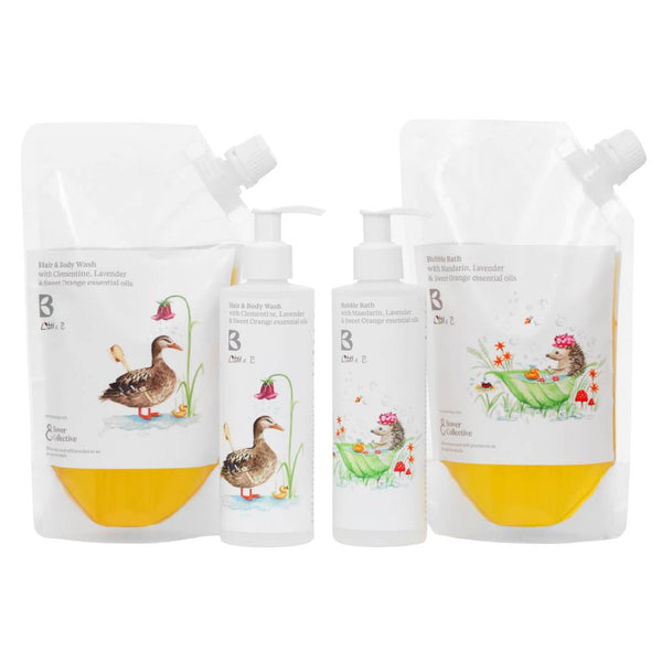 Bramley Little B Bundle - Bubble Bath & Hair & Body Wash with Dispensers