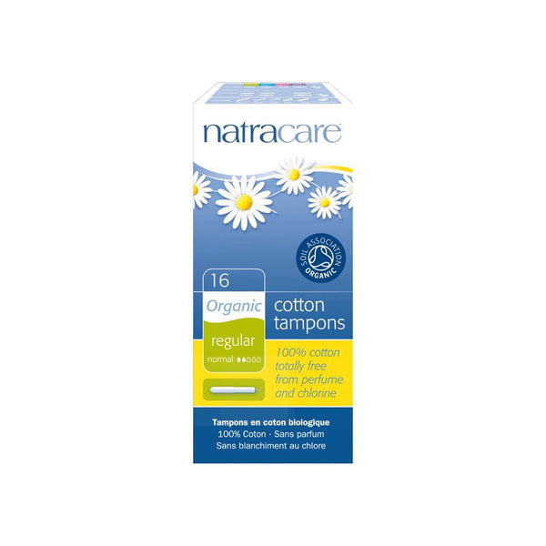 Natracare Organic Regular Cotton Tampons with Applicator