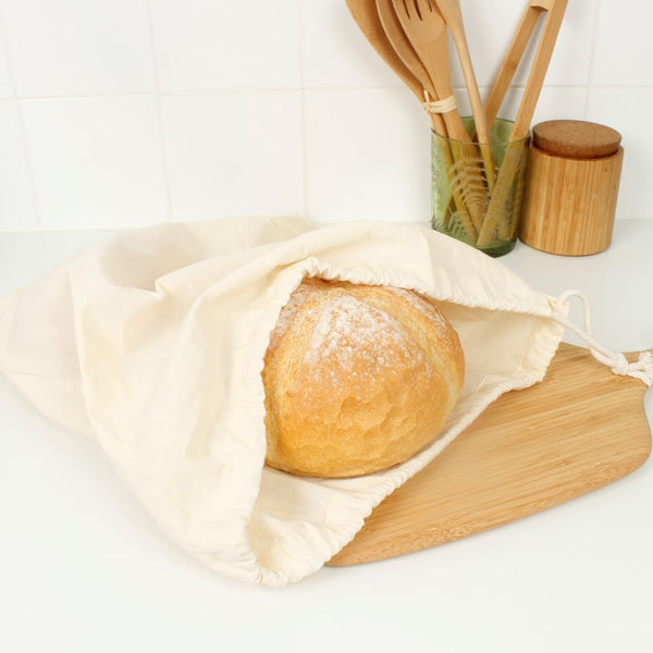 X-Large Organic Cotton Produce Bag - Reusable Bread Bag