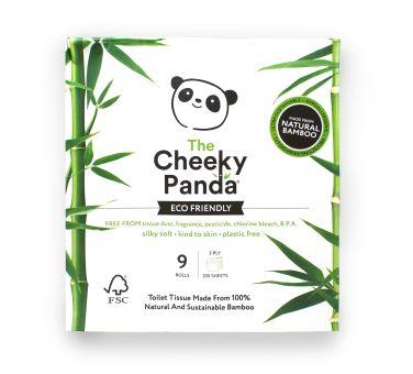 The Cheeky Panda Plastic Free Toilet Tissue - 9 Rolls