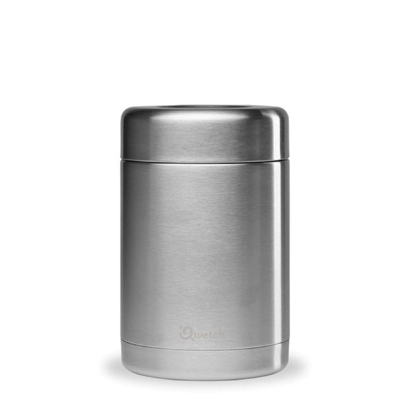 Qwetch Insulated Stainless Steel Lunch & Soup Box - Brushed Steel - 340ml