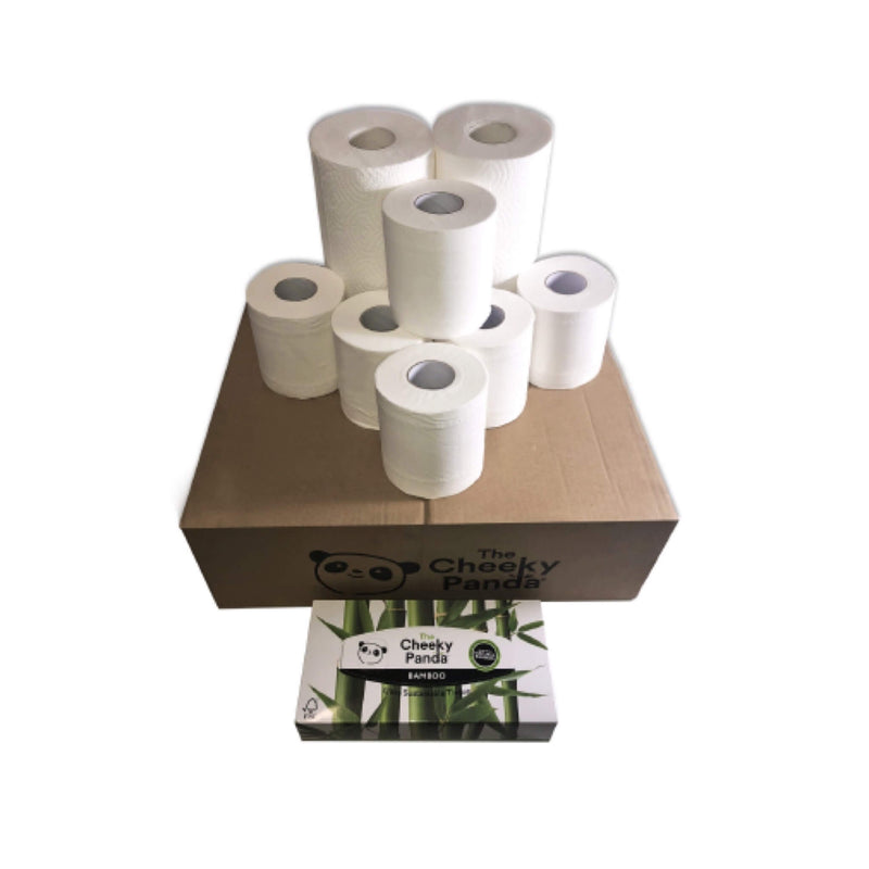 The Cheeky Panda Plastic Free Bundle: Toilet Roll, Kitchen Roll and Tissues