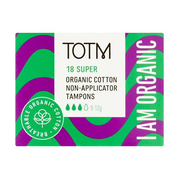 TOTM Organic Cotton Non-Applicator Tampons