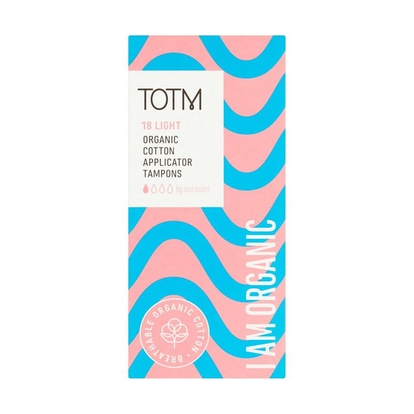 TOTM Organic Cotton Applicator Tampons