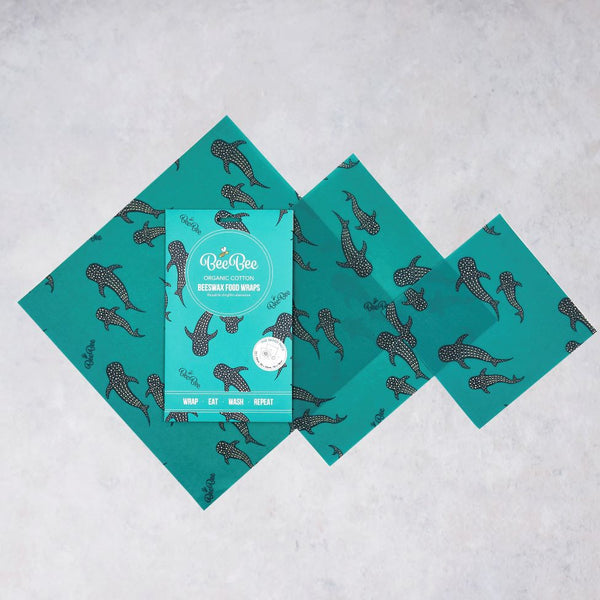 Bee Bee & Leaf Beeswax Food Wraps The Mixed Pack - Whale Pod