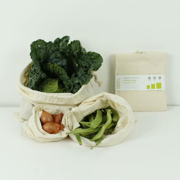 Organic Cotton Produce Bag - Variety Pack - Set of 3