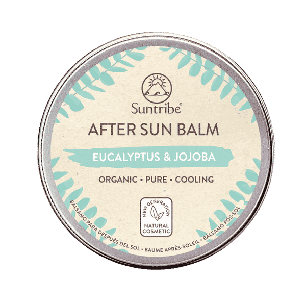 Suntribe all natural after sun balm with eucalyptus & jojoba aftersun with organic natural ingredients
