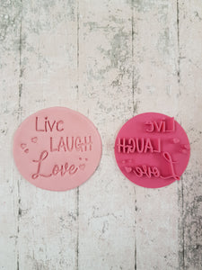 """Live Laugh Love"" stamp"